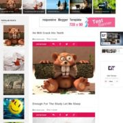Sticky Gag Pink Responsive Blogger Templates