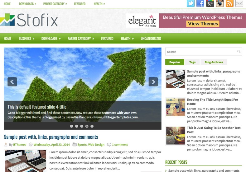 Stofix Responsive Blogger Template. Blogger Themes. Free Blogspot templates for your blogger blog. Best suitable for news blog templates. Best Ads ready blogspot templates help for add adsense ad code and easily showing adsence ads in your blog. Adapted from WordPress templates are converted from WordPress themes. It is help for take your rich. Blogger magazine template specially designed for magazine blogs. The writers can utilize this themes for take blog attractive to users. Elegant themes are more used themes in most of the blogs. Use minimalist blog templates for rich look for your blog. Free premium blogger themes means, themes authors release two types of themes. One is premium another one is free. Premium templates given for cost but free themes given for no cost. You no need pay From California, USA. $10 USD, or $20 USD and more. But premium buyers get more facilities from authors But free buyers. If you run game or other animation oriented blogs, and you can try with Anime blog templates. Today the world is fashion world. So girls involve to the criteria for make their life fashionable. So we provide fashion blogger themes for make your fashionable. News is most important concept of the world. Download news blogger templates for publishing online news. You can make your blog as online shopping store. Get Online shopping store blogger template to sell your product. Navigation is most important to users find correct place. Download drop down menu, page navigation menu, breadcrumb navigation menu and vertical dropdown menu blogspot themes for free. Google Guide to blogging tips and tricks for bloggers. Google bloggers can get blogspot trick and tips for bloggers. Blog templates portfolio professional blogspot themes, You can store your life moments with your blogs with personal pages templates. Video and movie blogs owners get amazing movie blog themes for their blogs. Business templates download. We publish blogger themes for photographers. Photographers easily share photos via photography blog themes. St valentine Christmas Halloween templates. Download Slideshow slider templates for free. Under construction coming soon custom blogspot template. Best beautiful high quality Custom layouts Blog templates from templateism, SoraTemplates, templatetrackers, simple, cute free premium professional unique designs blog themes blogspot themes. Seo ready portfolio anime fashion movie movies health custom layouts best download blogspot themes simple cute free premium professional unique designs xml html code html5.