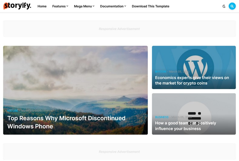 Storify Blogger Template is the latest theme from templateify.com which is suitable for a variety of niches.
