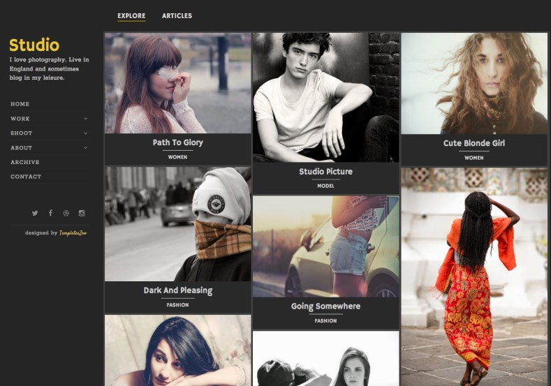 Studio Photography Blogger Template. 2015 Studio Photography Blogger Template premium template
