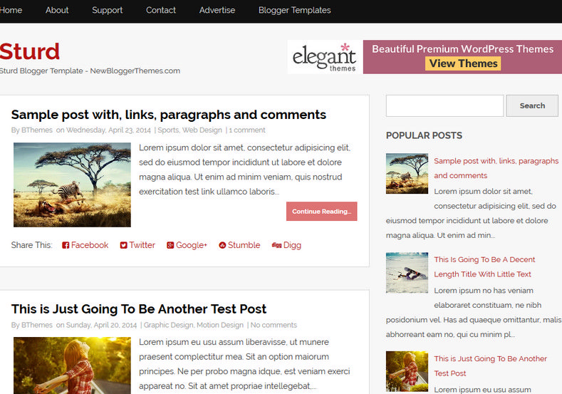 Sturd simple blogger template free graphics free for Create your own wordpress theme from an html template