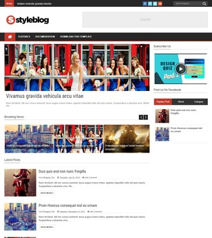 Style Blog Blogger Templates