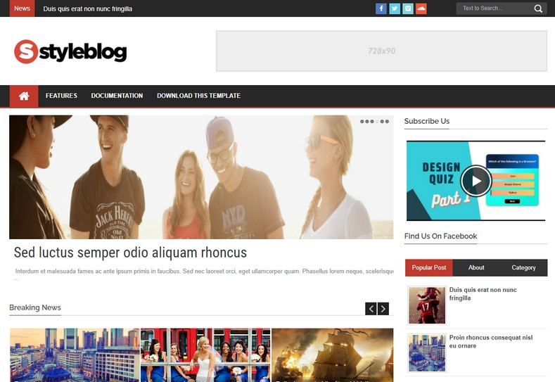Style Blog Blogger Template is a Complete Blogspot theme for a news or magazine site with the focus of attracting and keeping visitors on their site.