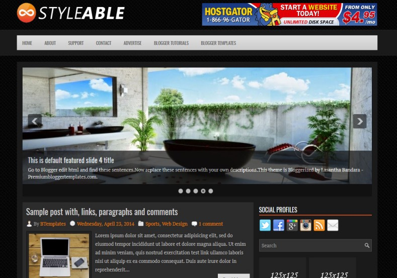 Styleable Blogger Template. Blogger Themes. Best suitable for news blog templates. Ads ready blogspot templates help for add adsense ad code and easily showing adsence ads in your blog. Adapted from WordPress templates are converted from WordPress themes. It is help for take your rich. Blogger magazine template specially designed for magazine blogs. The writers can utilize this themes for take blog attractive to users. Elegant themes are more used themes in most of the blogs. Minimalist blog templates. Free premium blogger themes means, themes authors release two types of themes. One is premium another one is free. Premium templates given for cost but free themes given for no cost. You no need pay From California, USA. $10 USD, or $20 USD and more. But premium buyers get more facilities from authors But free buyers. If you run game or other animation oriented blogs, and you can try with Anime blog templates. Today the world is fashion world. So girls involve to the criteria for make their life fashionable. So we provide fashion blogger themes for make your fashionable. News is most important concept of the world. Download news blogger templates for publishing online news. You can make your blog as online shopping store. Get Online shopping store blogger template to sell your product. Navigation is most important to users find correct place. Download drop down menu, page navigation menu, breadcrumb navigation menu and vertical dropdown menu blogspot themes for free. Google Guide. Blogging tips and Tricks for bloggers. Google bloggers can get blogspot trick and tips for bloggers. Blog templates portfolio professional blogspot themes, You can store your life moments with your blogs with personal pages templates. Video and movie blogs owners get amazing movie blog themes for their blogs. Business templates download. We publish blogger themes for photographers. Photographers easily share photos via photography blog themes. St valentine Christmas Halloween templates. Download Slideshow slider templates for free. Under construction coming soon custom blogspot template. Best beautiful high quality Custom layouts Blog templates from templateism, SoraTemplates, templatetrackers, simple, cute free premium professional unique designs blog themes blogspot themes. Seo ready portfolio anime fashion movie movies health custom layouts best download blogspot themes simple cute free premium professional unique designs xml html code html5.