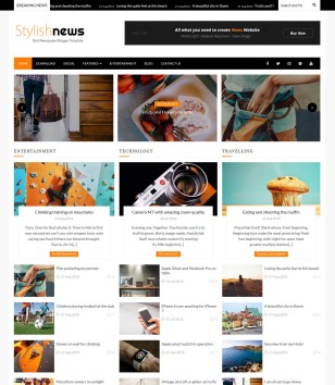 Stylish News Blogger Templates