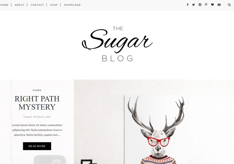 Sugar Blogger Template. Modern and minimalist template give amazing look to your blogger blog. Very attractive design and more convenience blogger template named Sugar Blogger Template.