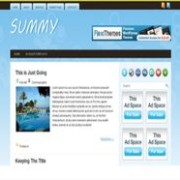 Summy blogger template