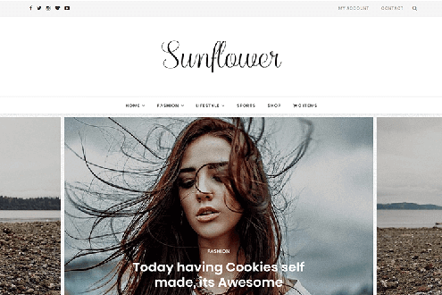 Sunflower - Minimal WordPress Theme