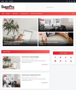 Super Pro Blogger Templates