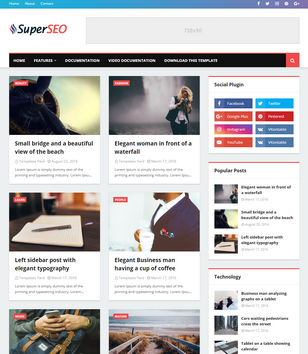 Super Seo Optimised Blogger Templates
