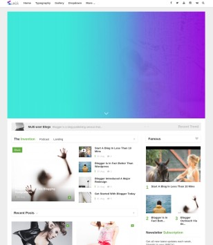 Superzin Blogger Template Premium
