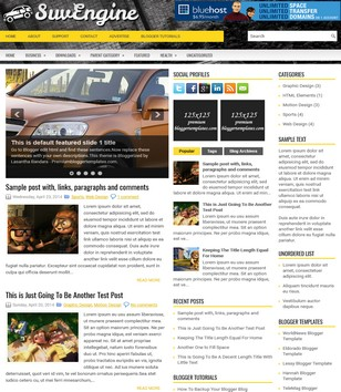SuvEngine Blogger Templates