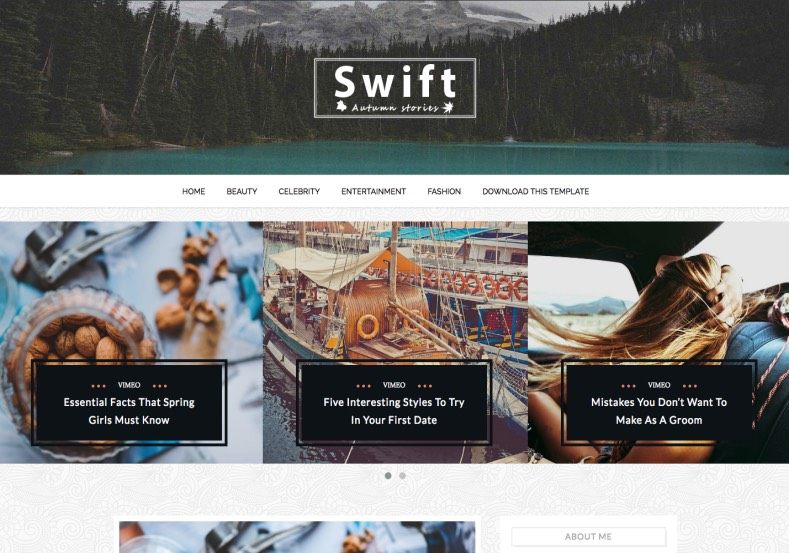 Swift Blogger Template