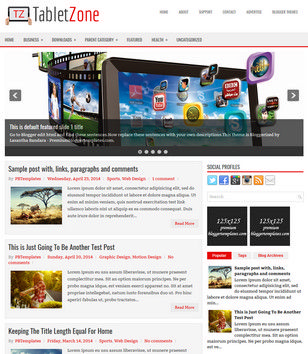TabletZone Blogger Templates