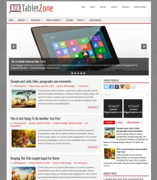 TabletZone Blogger Templates