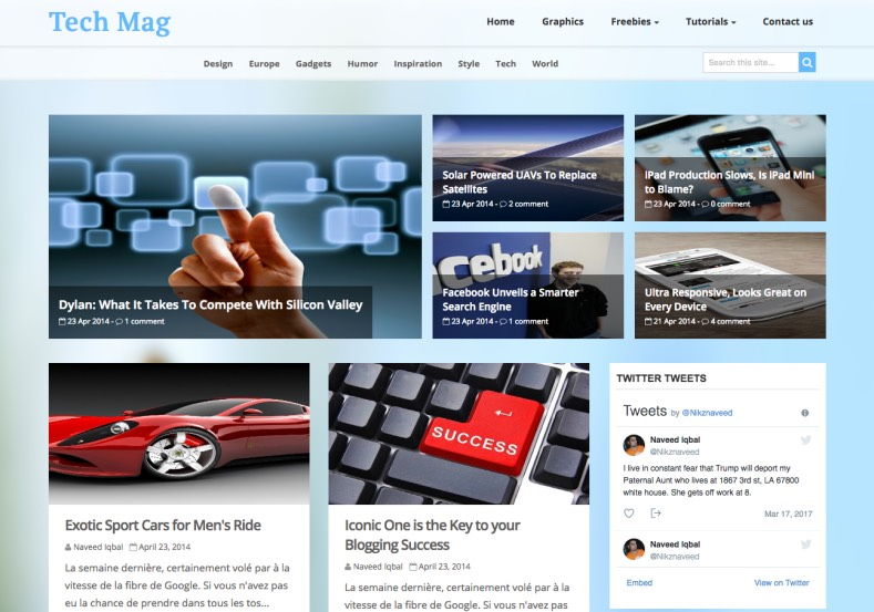 Tech Mag Blogger Template. Best blogger template for tech and gadget blogs. Download latest new templates Tech Mag Blogger Template.