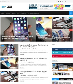 Tech News Blogger Templates