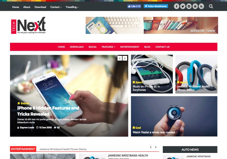 Tech Next Blogger Template Theme From Oddthemes Best Quality Magazine And News Blog