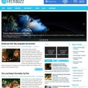 TechBuzz Responsive Blogger Templates
