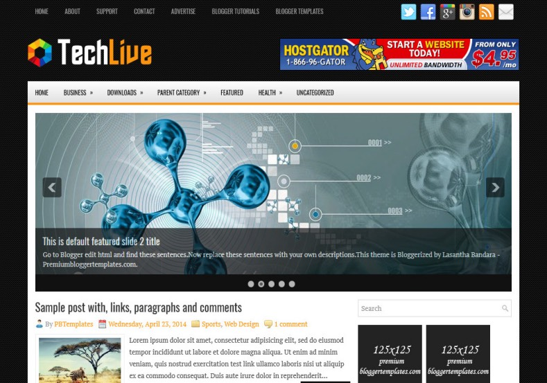 TechLive Blogger Template. Blogger Themes. Best suitable for news blog templates. Ads ready blogspot templates help for add adsense ad code and easily showing adsence ads in your blog. Adapted from WordPress templates are converted from WordPress themes. It is help for take your rich. Blogger magazine template specially designed for magazine blogs. The writers can utilize this themes for take blog attractive to users. Elegant themes are more used themes in most of the blogs. Minimalist blog templates. Free premium blogger themes means, themes authors release two types of themes. One is premium another one is free. Premium templates given for cost but free themes given for no cost. You no need pay From California, USA. $10 USD, or $20 USD and more. But premium buyers get more facilities from authors But free buyers. If you run game or other animation oriented blogs, and you can try with Anime blog templates. Today the world is fashion world. So girls involve to the criteria for make their life fashionable. So we provide fashion blogger themes for make your fashionable. News is most important concept of the world. Download news blogger templates for publishing online news. You can make your blog as online shopping store. Get Online shopping store blogger template to sell your product. Navigation is most important to users find correct place. Download drop down menu, page navigation menu, breadcrumb navigation menu and vertical dropdown menu blogspot themes for free. Google Guide. Blogging tips and Tricks for bloggers. Google bloggers can get blogspot trick and tips for bloggers. Blog templates portfolio professional blogspot themes, You can store your life moments with your blogs with personal pages templates. Video and movie blogs owners get amazing movie blog themes for their blogs. Business templates download. We publish blogger themes for photographers. Photographers easily share photos via photography blog themes. St valentine Christmas Halloween templates. Download Slideshow slider templates for free. Under construction coming soon custom blogspot template. Best beautiful high quality Custom layouts Blog templates from templateism, SoraTemplates, templatetrackers, simple, cute free premium professional unique designs blog themes blogspot themes. Seo ready portfolio anime fashion movie movies health custom layouts best download blogspot themes simple cute free premium professional unique designs xml html code html5.