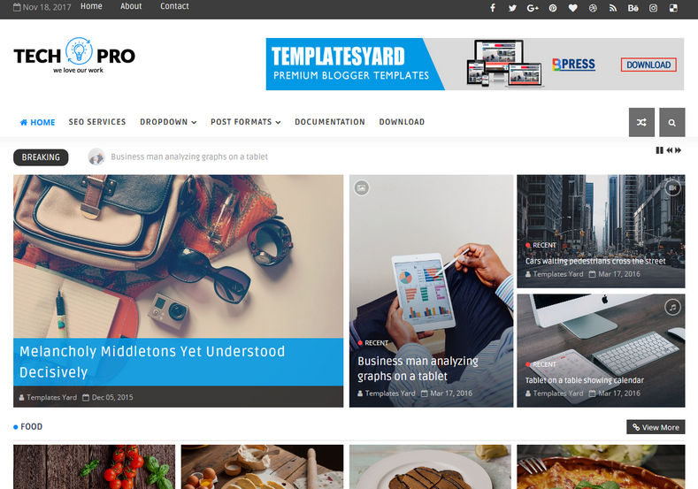 TechPro Technology Blogger Template • Blogspot Templates 2018