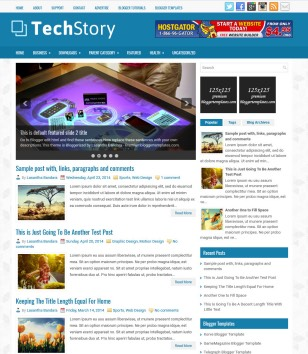 TechStory Blogger Templates