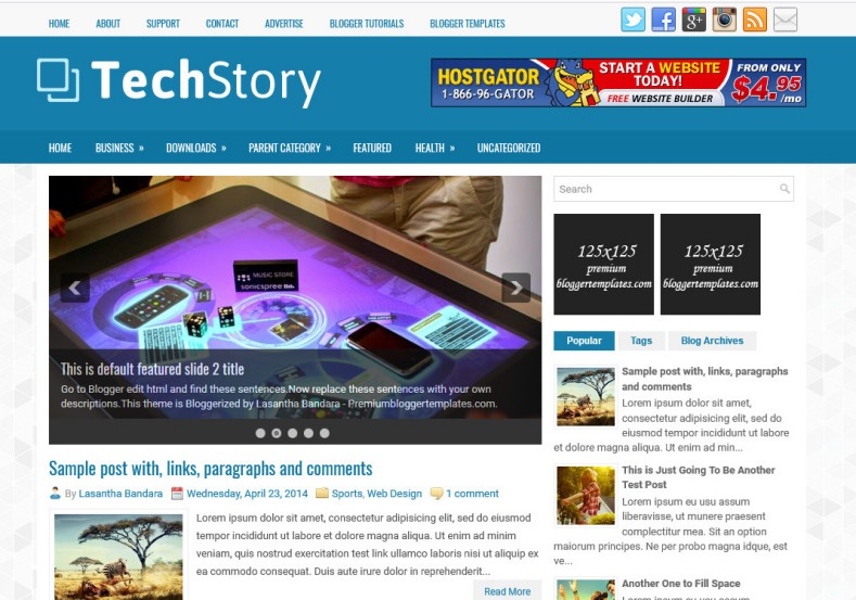 TechStory Blogger Template. Blogger Themes. Best suitable for news blog templates. Ads ready blogspot templates help for add adsense ad code and easily showing adsence ads in your blog. Adapted from WordPress templates are converted from WordPress themes. It is help for take your rich. Blogger magazine template specially designed for magazine blogs. The writers can utilize this themes for take blog attractive to users. Elegant themes are more used themes in most of the blogs. Minimalist blog templates. Free premium blogger themes means, themes authors release two types of themes. One is premium another one is free. Premium templates given for cost but free themes given for no cost. You no need pay From California, USA. $10 USD, or $20 USD and more. But premium buyers get more facilities from authors But free buyers. If you run game or other animation oriented blogs, and you can try with Anime blog templates. Today the world is fashion world. So girls involve to the criteria for make their life fashionable. So we provide fashion blogger themes for make your fashionable. News is most important concept of the world. Download news blogger templates for publishing online news. You can make your blog as online shopping store. Get Online shopping store blogger template to sell your product. Navigation is most important to users find correct place. Download drop down menu, page navigation menu, breadcrumb navigation menu and vertical dropdown menu blogspot themes for free. Google Guide. Blogging tips and Tricks for bloggers. Google bloggers can get blogspot trick and tips for bloggers. Blog templates portfolio professional blogspot themes, You can store your life moments with your blogs with personal pages templates. Video and movie blogs owners get amazing movie blog themes for their blogs.  Business templates download. We publish blogger themes for photographers.  Photographers easily share photos via photography blog themes. St valentine Christmas Halloween templates. Download Slideshow slider templates for free.  Under construction coming soon custom blogspot template. Best beautiful high quality Custom layouts Blog templates from templateism, soratemplates, templatetrackers, simple, cute free premium professional unique designs blog themes blogspot themes. Seo ready portfolio anime fashion movie movies health custom layouts best download blogspot themes simple cute free premium professional unique designs xml html code html5.