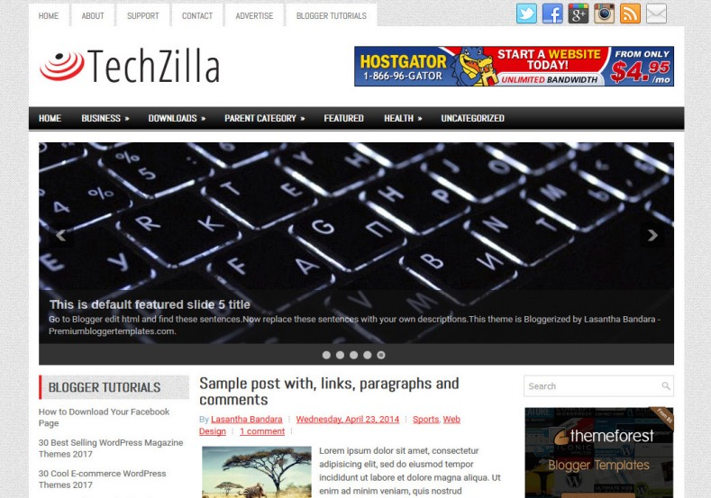TechZilla Blogger Template. Blogger Themes. Best suitable for news blog templates. Ads ready blogspot templates help for add adsense ad code and easily showing adsence ads in your blog. Adapted from WordPress templates are converted from WordPress themes. It is help for take your rich. Blogger magazine template specially designed for magazine blogs. The writers can utilize this themes for take blog attractive to users. Elegant themes are more used themes in most of the blogs. Minimalist blog templates. Free premium blogger themes means, themes authors release two types of themes. One is premium another one is free. Premium templates given for cost but free themes given for no cost. You no need pay From California, USA. $10 USD, or $20 USD and more. But premium buyers get more facilities from authors But free buyers. If you run game or other animation oriented blogs, and you can try with Anime blog templates. Today the world is fashion world. So girls involve to the criteria for make their life fashionable. So we provide fashion blogger themes for make your fashionable. News is most important concept of the world. Download news blogger templates for publishing online news. You can make your blog as online shopping store. Get Online shopping store blogger template to sell your product. Navigation is most important to users find correct place. Download drop down menu, page navigation menu, breadcrumb navigation menu and vertical dropdown menu blogspot themes for free. Google Guide. Blogging tips and Tricks for bloggers. Google bloggers can get blogspot trick and tips for bloggers. Blog templates portfolio professional blogspot themes, You can store your life moments with your blogs with personal pages templates. Video and movie blogs owners get amazing movie blog themes for their blogs. Business templates download. We publish blogger themes for photographers. Photographers easily share photos via photography blog themes. St valentine Christmas Halloween templates. Download Slideshow slider templates for free. Under construction coming soon custom blogspot template. Best beautiful high quality Custom layouts Blog templates from templateism, SoraTemplates, templatetrackers, simple, cute free premium professional unique designs blog themes blogspot themes. Seo ready portfolio anime fashion movie movies health custom layouts best download blogspot themes simple cute free premium professional unique designs xml html code html5.