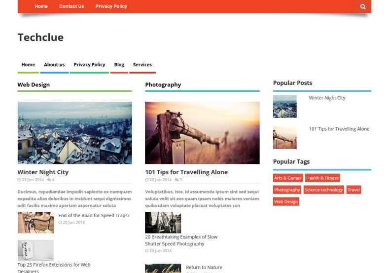 Techclue Responsive Seo Blogger Template Free Blogger Themes - Photography privacy policy template