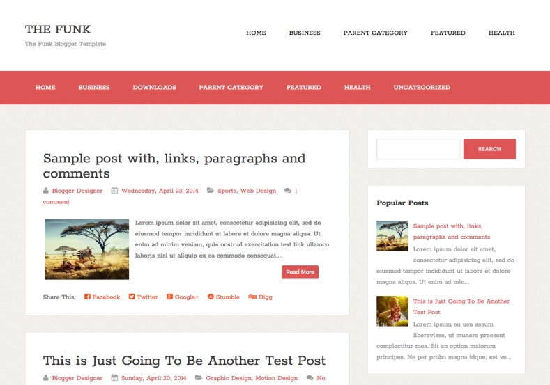 the funk simple blogger template blogger themes free blogspot templates for your blogger blog
