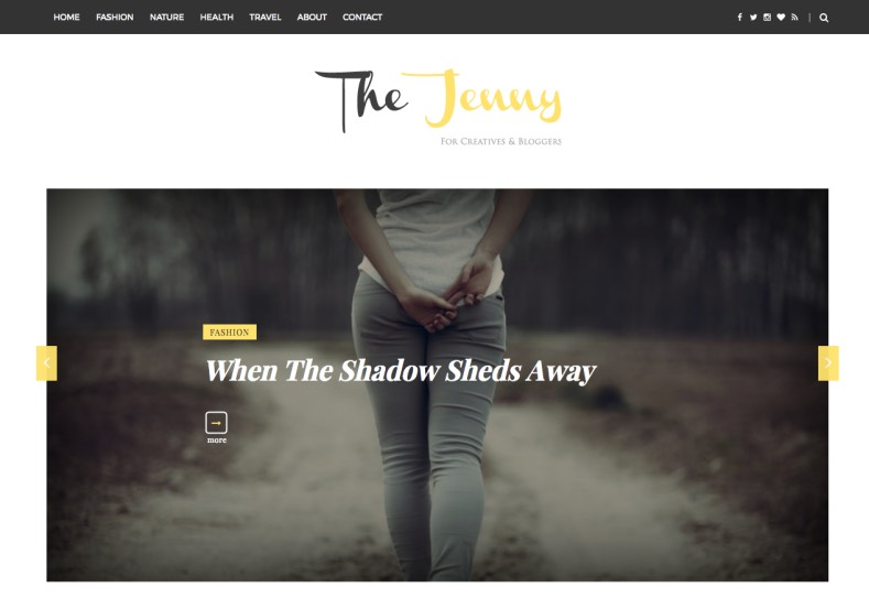 The Jenny Blogger Template. Best free fashion The Jenny Blogger Template for your blogger blog. Download our templates and gets amazing look for your weblog.