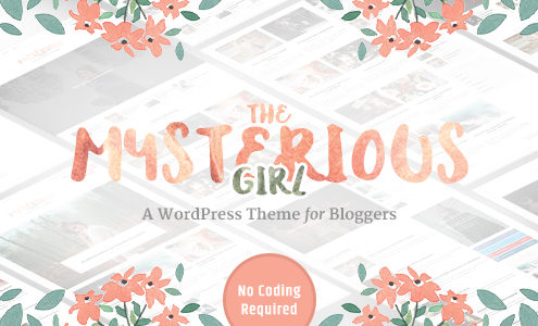 The Mysterious Girl - Feminine Style WordPress Blog Theme