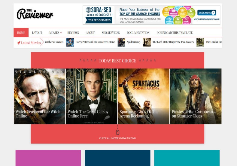 The Reviewer Blogger Template. Movie review template to download for blogger blogspot. The Reviewer Blogger Template.