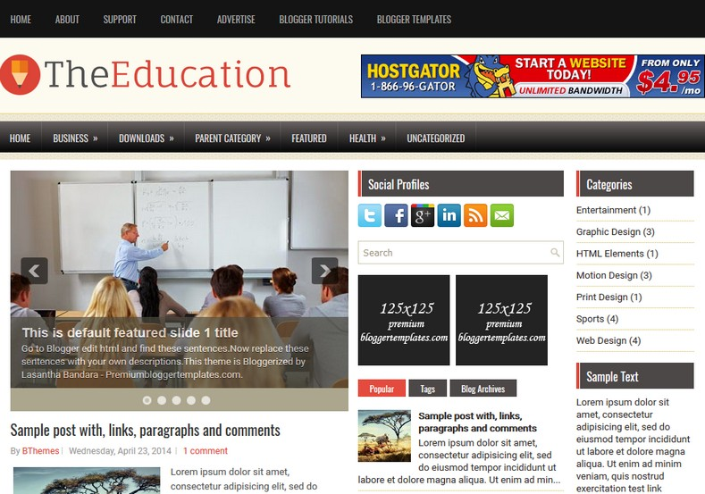 TheEducation Responsive Blogger Template. Blogger Themes. Free Blogspot templates for your blogger blog. Best suitable for news blog templates. Ads ready blogspot templates help for add adsense ad code and easily showing adsence ads in your blog. Adapted from WordPress templates are converted from WordPress themes. It is help for take your rich. Blogger magazine template specially designed for magazine blogs. The writers can utilize this themes for take blog attractive to users. Elegant themes are more used themes in most of the blogs. Use minimalist blog templates for rich look for your blog. Free premium blogger themes means, themes authors release two types of themes. One is premium another one is free. Premium templates given for cost but free themes given for no cost. You no need pay From California, USA. $10 USD, or $20 USD and more. But premium buyers get more facilities from authors But free buyers. If you run game or other animation oriented blogs, and you can try with Anime blog templates. Today the world is fashion world. So girls involve to the criteria for make their life fashionable. So we provide fashion blogger themes for make your fashionable. News is most important concept of the world. Download news blogger templates for publishing online news. You can make your blog as online shopping store. Get Online shopping store blogger template to sell your product. Navigation is most important to users find correct place. Download drop down menu, page navigation menu, breadcrumb navigation menu and vertical dropdown menu blogspot themes for free. Google Guide to blogging tips and tricks for bloggers. Google bloggers can get blogspot trick and tips for bloggers. Blog templates portfolio professional blogspot themes, You can store your life moments with your blogs with personal pages templates. Video and movie blogs owners get amazing movie blog themes for their blogs. Business templates download. We publish blogger themes for photographers. Photographers easily share photos via photography blog themes. St valentine Christmas Halloween templates. Download Slideshow slider templates for free. Under construction coming soon custom blogspot template. Best beautiful high quality Custom layouts Blog templates from templateism, SoraTemplates, templatetrackers, simple, cute free premium professional unique designs blog themes blogspot themes. Seo ready portfolio anime fashion movie movies health custom layouts best download blogspot themes simple cute free premium professional unique designs xml html code html5.
