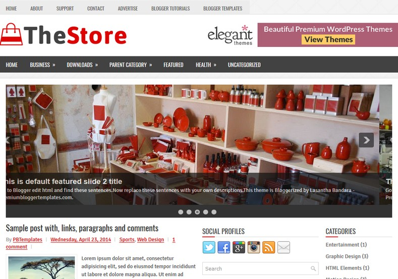 Thestore 3 columns blogger template free graphics for Create your own wordpress theme from an html template