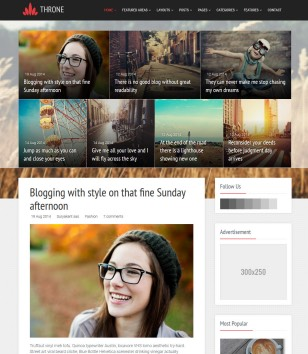 Throne Responsive Blogger Templates