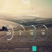 Time Coming Soon Responsive Blogger Templates
