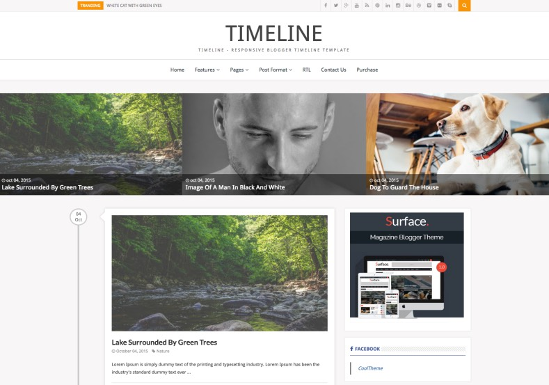 Timeline Blogger Template. High quality premium blogger templates 2017 with unlimited colors cross browsers compatible and much more for blogger. Timeline Blogger Template.