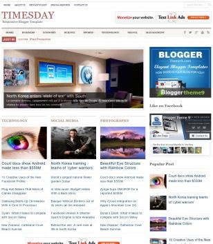 TimesDay Blogger Templates