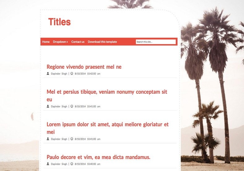Titles Blogger Template simple looks blogger templates