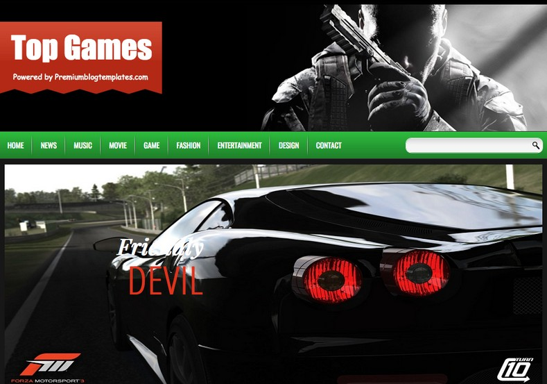 Top Games Responsive Blogger Template Free Graphics Free Wordpress Themes Scripts App