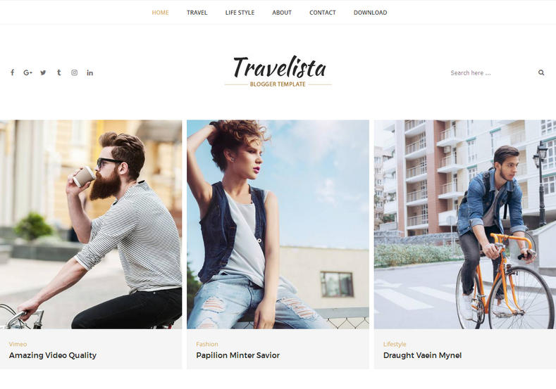 Travelista Tour Blogger Template is responsive blogger template and perfect for travel niche with minimal look