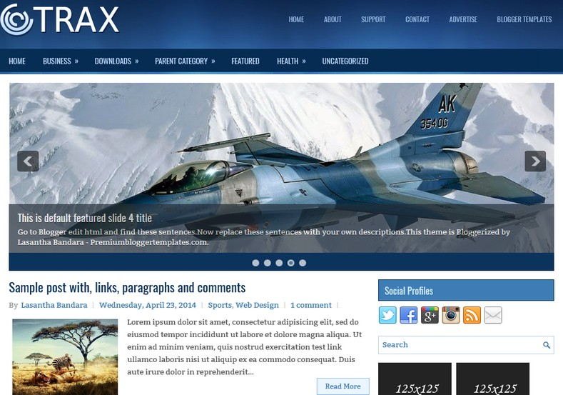 Trax 2 columns blogger template 2015 free themes for Create your own wordpress theme from an html template