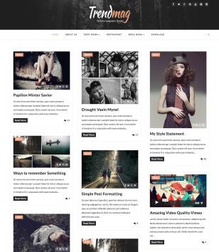 Trendmag Fullwidth Masonry Blogger Templates