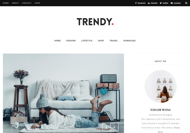 Trendy Blogger Template S Modern And Design With Latest Features To Trend Your Blog