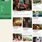 Trendy Green Responsive Blogger Templates
