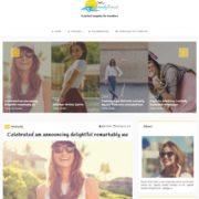Trendy Travel Responsive magazine Blogger Templates