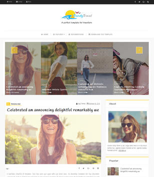 Trendy Travel Blogger Templates
