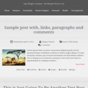 Typo Blogger Templates