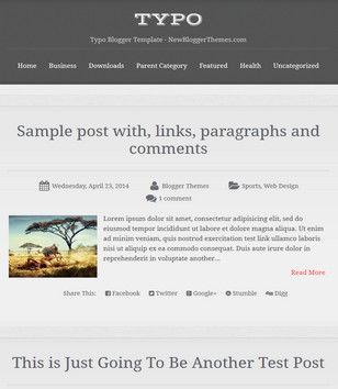 Typo Blogger Templates